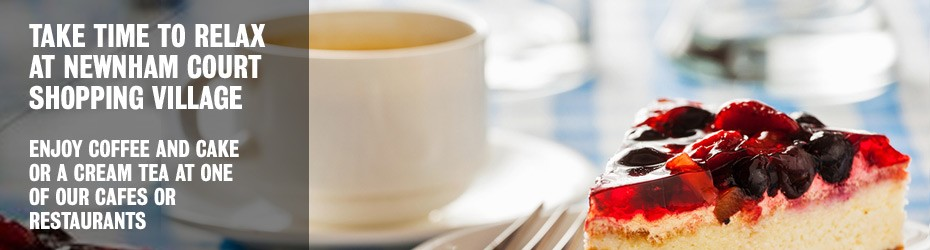 Take time to relax and enjoy a coffee at Newnham Court Shopping Village Maidstone