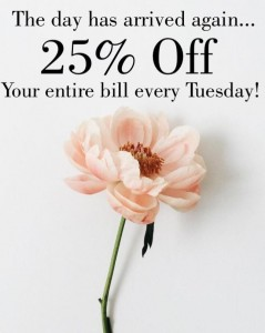 25 PERCENT OFF AT PURE BEAUTY