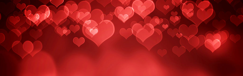 Valentines red hearts - image