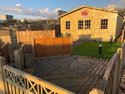 Timberjacks Fencing in warm sunlight image