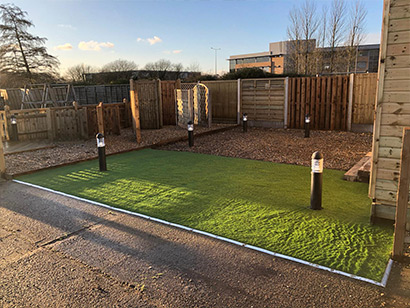 Timberjacks Fencing completes a garden image